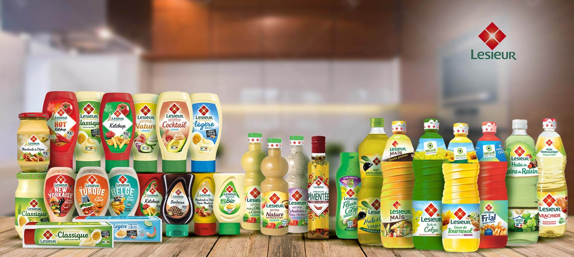 Gamme produits Lesieur Réunion
